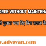 Divorce Without Maintenance or Alimony